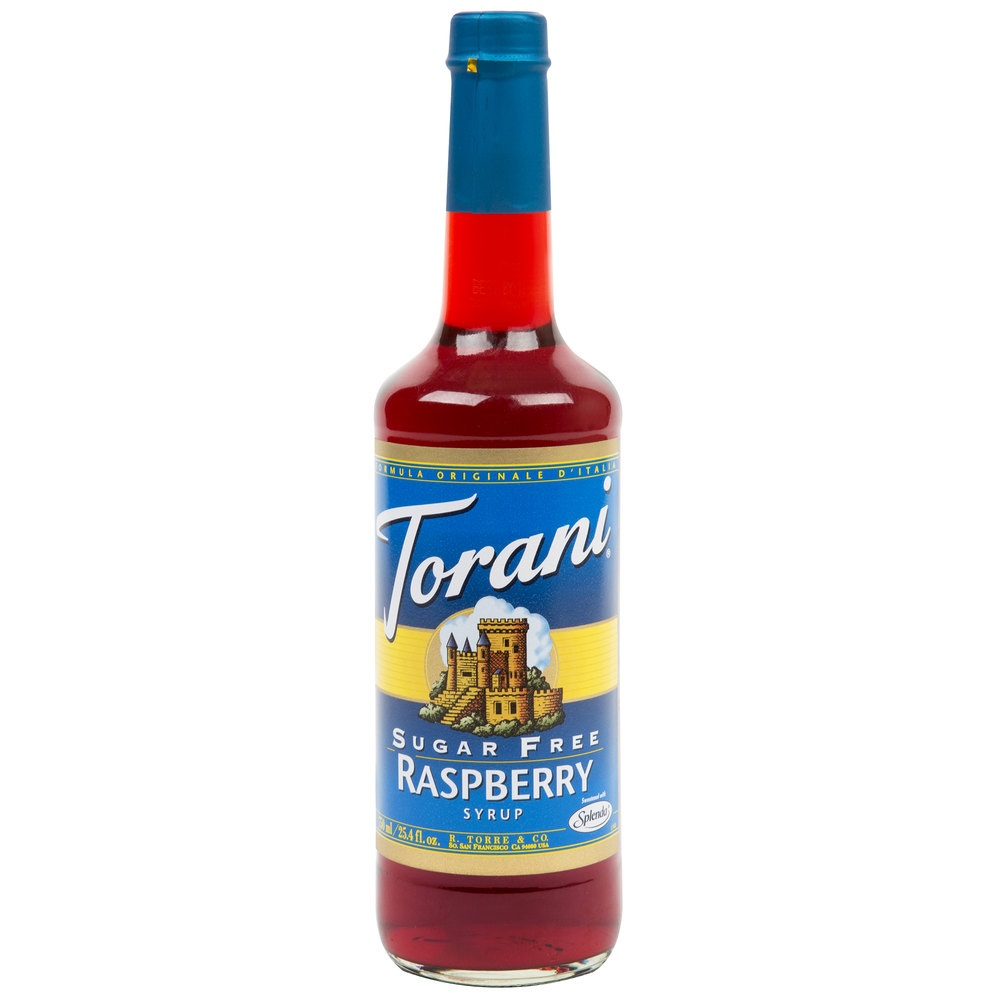 3 Torani Sugar-free Syrup Flavors: 2 Raspberry & 1 Chocolate, 25.4 Fl Oz Each